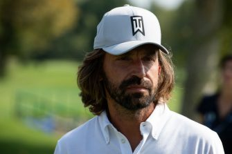 TURIN, ITALY - SEPTEMBER 02: Andrea Pirlo attends ProAm Fondazione Vialli Mauro Golf Cup at Royal Park Golf & Country Club on September 02, 2019 in Turin, Italy. (Photo by Giorgio Perottino/Getty Images  )