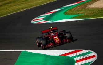 Ferrari's Monegasque driver Charles Leclerc competes during the qualifying session at the Mugello circuit ahead of the Tuscany Formula One Grand Prix in Scarperia e San Piero on September 12, 2020. (Photo by Bryn Lennon / POOL / AFP) (Photo by BRYN LENNON/POOL/AFP via Getty Images)