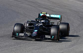 SCARPERIA, ITALY - SEPTEMBER 12: Valtteri Bottas of Finland driving the (77) Mercedes AMG Petronas F1 Team Mercedes W11 on track during qualifying for the F1 Grand Prix of Tuscany at Mugello Circuit on September 12, 2020 in Scarperia, Italy. (Photo by Miguel Medina - Pool/Getty Images)