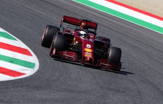 SCARPERIA, ITALY - SEPTEMBER 12: Sebastian Vettel of Germany driving the (5) Scuderia Ferrari SF1000 on track during qualifying for the F1 Grand Prix of Tuscany at Mugello Circuit on September 12, 2020 in Scarperia, Italy. (Photo by Jenifer Lorenzini - Pool/Getty Images)
