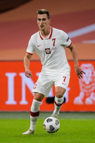 AMSTERDAM, NETHERLANDS -  SEPTEMBER 4: Arkadiusz Milik of Poland during the Nations League group match between The Netherlands and Poland on September 4, 2020 in Amsterdam, The Netherlands. (Photo by Gerrit van Keulen/BSR Agency/Getty Images)