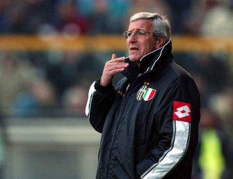 PARMA - FEBRUARY 16:  Marcelo Lippi, coach of Juventus, watches the action during the Serie A match between Parma and Juventus, played at the Ennio Tardini Stadium, Parma, Italy on February 16, 2003.  (Photo by Grazia Neri/Getty Images)
