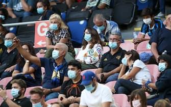 durante l'amichevole Inter vs Pisa, allo Stadio Meazza di Milano il 19 Settembre 2020. ANSA/ROBERTO BREGANI