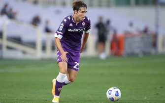 FLORENCE, ITALY - SEPTEMBER 19: Federico Chiesa of ACF Fiorentina during the Serie A match between ACF Fiorentina and Torino FC at Stadio Artemio Franchi on September 19, 2020 in Florence, Italy. (Photo by Jonathan Moscrop/Getty Images)