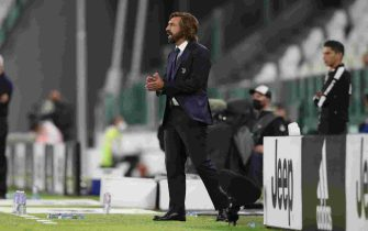 Andrea Pirlo Head coach of Juventus reacts