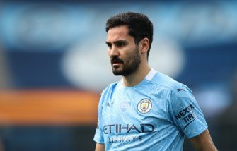 MANCHESTER, ENGLAND - JULY 26: Ilkay Gundogan of Manchester City during the Premier League match between Manchester City and Norwich City at Etihad Stadium on July 26, 2020 in Manchester, United Kingdom. (Photo by Robbie Jay Barratt - AMA/Getty Images)