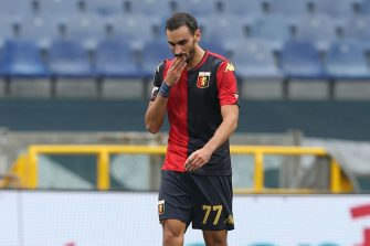 GENOA, ITALY - SEPTEMBER 20: Davide Zappacosta of Genoa CFC celebrates after scoring a goal during the Serie A match between Genoa CFC and FC Crotone at Stadio Luigi Ferraris on September 20, 2020 in Genoa, Italy.  (Photo by Gabriele Maltinti/Getty Images)