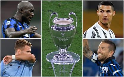Champions League, gironi e avversarie delle italiane: il sorteggio