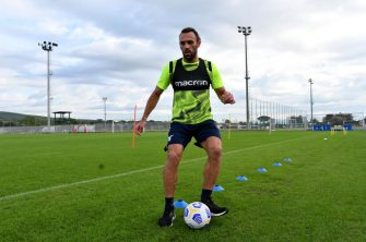 ROME, ITALY - OCTOBER 02: Vedat Muriqi during the SS Lazio training session at Formello sport center on October 02, 2020 in Rome, Italy. (Photo by Marco Rosi - SS Lazio/Getty Images)