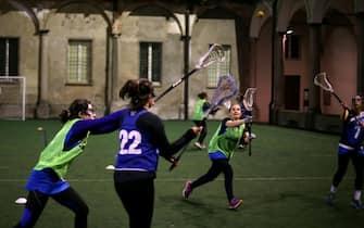 Foto LaPresse - Stefano Porta 08/03/2018 Milano ( Mi ) Cronaca Allenamento Squadra femminile Lacrosse sul Campo della Chiesa di San Marco