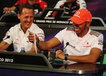 Lewis Hamilton e Michael Schumacher, uguali e diversi