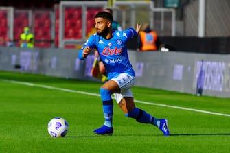 Lorenzo Insigne ( Napoli ) during Benevento Calcio vs SSC Napoli, Italian soccer Serie A match in benevento, Italy, October 25 2020
