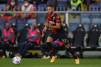 Marko Pjaca of Genoa CFC during the Serie A match at Luigi Ferraris, Genoa. Picture date: 24th October 2020. Picture credit should read: Jonathan Moscrop/Sportimage via PA Images