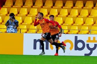 Happiness of Roberto Insigne (Benevento ) after scoring a goal during Benevento Calcio vs SSC Napoli, Italian soccer Serie A match in benevento, Italy, October 25 2020