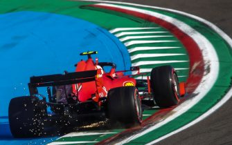 epa08788672 Monaco's Formula One driver Charles Leclerc of Scuderia Ferrari in action during the qualifying session of the Formula One Emilia Romagna Grand Prix  at the race track in Imola, Italy,on 31 October 2020.The Formula One Emilia Romagna Grand Prix will take a place on 01 November 2020.  EPA/Luca Bruno / Pool