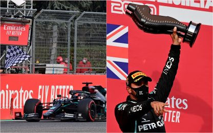 F1, GP Emilia Romagna: a Imola vince Hamilton, 2° Bottas. FOTO