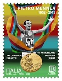 Atletica, un francobollo per Mennea a 40 anni dall'oro di Mosca
