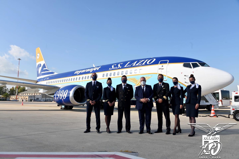Il nuovo aereo della Lazio - ©Facebook/S.S. Lazio