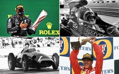 F1, Hamilton vince settimo titolo: classifica dei campioni del mondo