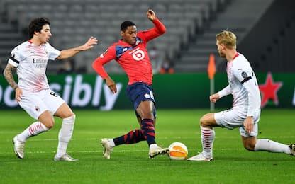 Lille-Milan 1-1: gol e highlights della partita di Europa League
