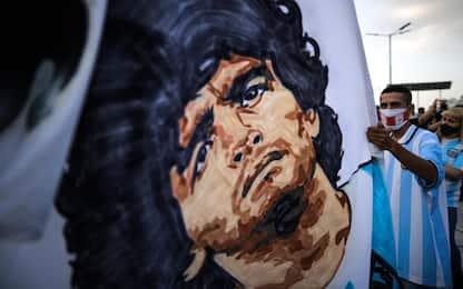 Morte Maradona, il tributo di Buenos Aires al suo Pibe de oro. FOTO