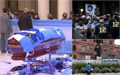 Maradona, migliaia di tifosi alla camera ardente a Buenos Aires. FOTO