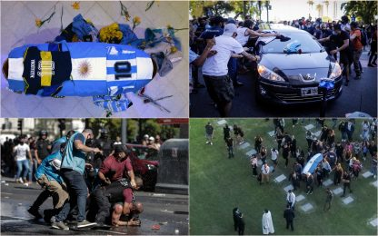 Morte Maradona, il lungo addio da Buenos Aires a Napoli
