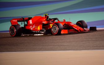 epa08848612 Monaco's Formula One driver Charles Leclerc of Scuderia Ferrari in action during the qualifying session of the F1 Grand Prix of Bahrain at Bahrain International Circuit near Manama, Bahrain, 28 November 2020. The Formula One Grand Prix of Bahrain will take place on 29 November 2020.  EPA/Giuseppe Cacace / Pool
