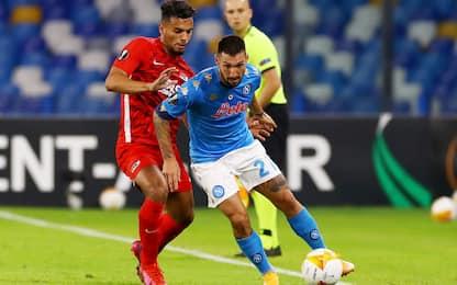 Europa League, in corso AZ-Napoli 0-1 e Roma-Young Boys 0-0. DIRETTA