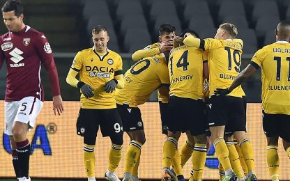 Serie A, Torino-Udinese 2-3: video, gol e highlights