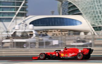 epa08878758 A handout photo made available by the FIA of Monaco's driver Charles Leclerc of Ferrari in action during the third practice session of the Formula One Grand Prix of Abu Dhabi at Yas Marina Circuit in Abu Dhabi, United Arab Emirates, 12 December 2020. The Formula One Grand Prix of Abu Dhabi will take place on 13 December 2020.  EPA/FIA/F1 HANDOUT  HANDOUT EDITORIAL USE ONLY/NO SALES *** Local Caption *** BAHRAIN, BAHRAIN - NOVEMBER 26: <<enter caption here>> during previews ahead of the F1 Grand Prix of Bahrain at Bahrain International Circuit on November 26, 2020 in Bahrain, Bahrain. (Photo by Rudy Carezzevoli/Getty Images)