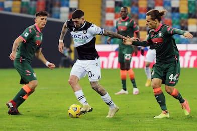 Udinese-Crotone 0-0: video e highlights della partita di Serie A