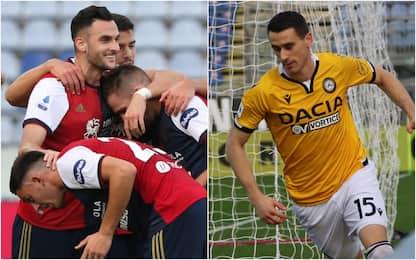 Cagliari-Udinese 1-1, Lasagna risponde a Lykogiannis