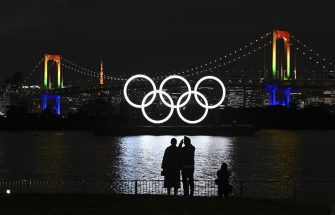 ©Kyodo/MAXPPP - 01/12/2020 ; The Olympic rings glow in the dark after being reinstalled in Tokyo Bay off Odaiba Marine Park on Dec. 1, 2020, after they underwent a safety inspection and maintenance. The rings were temporarily removed in August following the Tokyo Summer Games' postponement until 2021 due to the coronavirus pandemic. (Kyodo) ==Kyodo (None - 2020-12-01, / IPA) p.s. la foto e' utilizzabile nel rispetto del contesto in cui e' stata scattata, e senza intento diffamatorio del decoro delle persone rappresentate