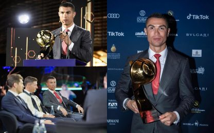 Cristiano Ronaldo eletto giocatore del secolo ai Globe Soccer Awards