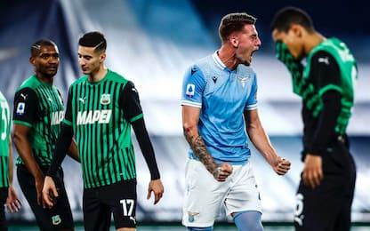 Lazio-Sassuolo 2-1: video, gol e highlights della partita di Serie A
