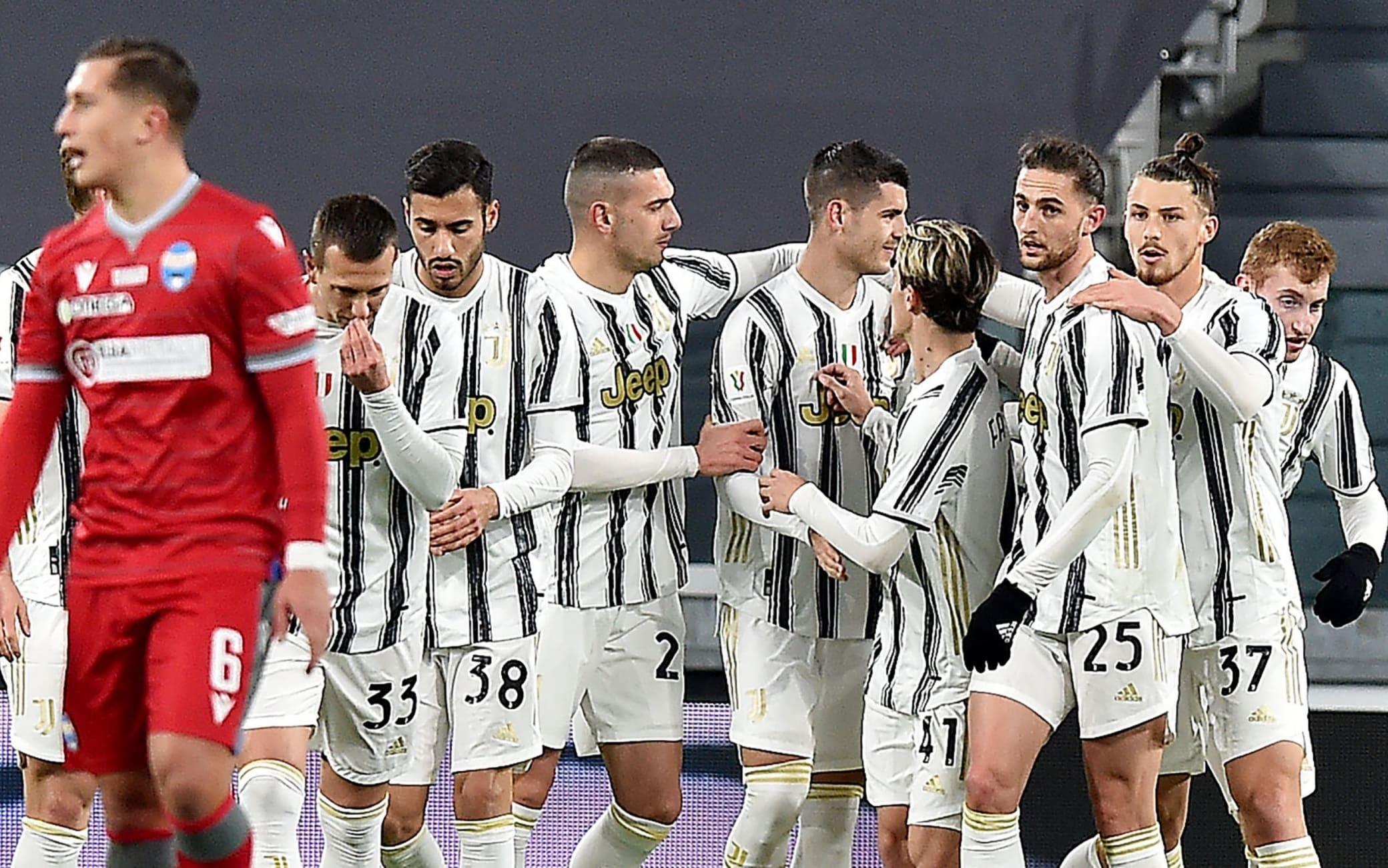 Juventus-Spal 4-0, la cronaca della partita di Coppa Italia