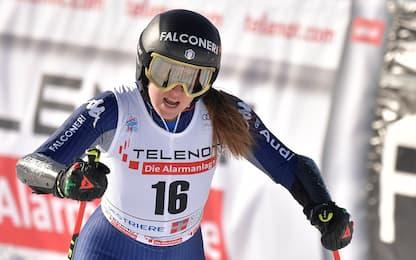 Sofia Goggia, caduta a Garmisch: frattura della tibia, stagione finita