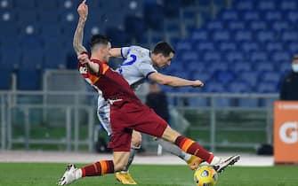 Kevin Lasagna of Verona,AS Roma v Hellas Verona Calcio,Serie A