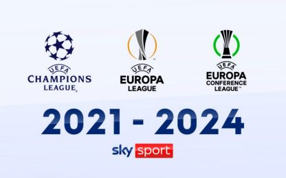 Su Sky la Champions League e tutta l'Europa League dal 2021 al 2024