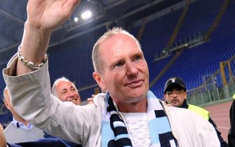 Former SS Lazio's player, Paul Gascoigne, prior the UEFA Europa League soccer match between SS Lazio and Tottenham Hotspur at the Olimpico stadium in Rome, Italy, 22 November 2012.      ANSA/ETTORE FERRARI