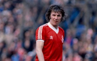 29/3/1980 English Football League Division One, Brighton v Nottingham Forest, Forest player Stan Bowles. (Photo by Mark Leech/Getty Images)