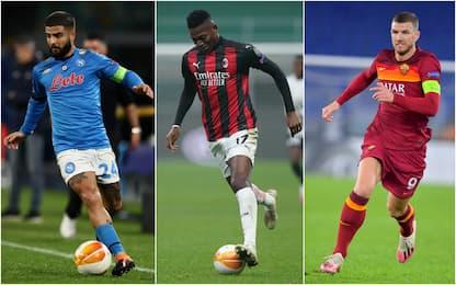 E. League, Napoli eliminato. Milan-Stella Rossa 1-1, Roma-Braga 3-1