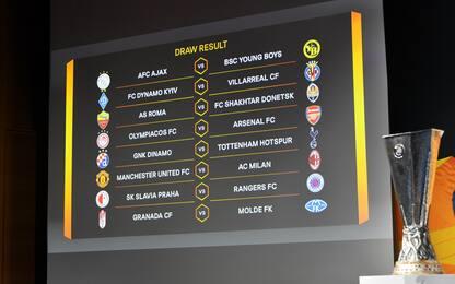 Europa League, agli ottavi di finale Milan-Manchester e Roma-Shakhtar