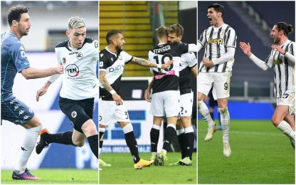 Serie A: Spezia-Benevento 1-1, Udinese-Sassuolo 2-0