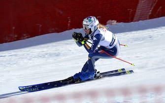 Marta Bassino during 2021 AUDI FIS Ski World Cup Val di Fassa - SuperG Women, alpine ski race in Val di Fassa, Italy, February 28 2021