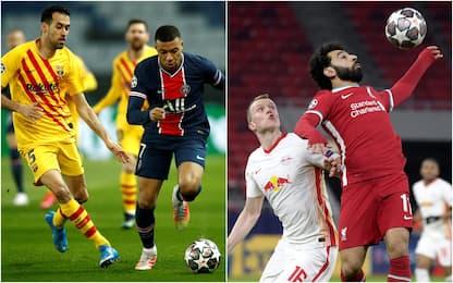 Champions League, Psg-Barcellona 1-1 e Liverpool-Lipsia 2-0. VIDEO