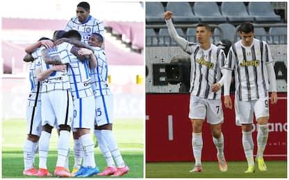 Serie A: Torino-Inter 1-2, Parma-Roma 2-0, Cagliari-Juventus 1-3