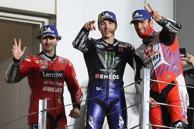 MotoGp Qatar, vince Vinales. Bagnaia sul podio, male Valentino