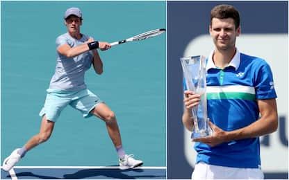 Tennis, niente da fare per Sinner: il Masters 1000 di Miami a Hurkacz